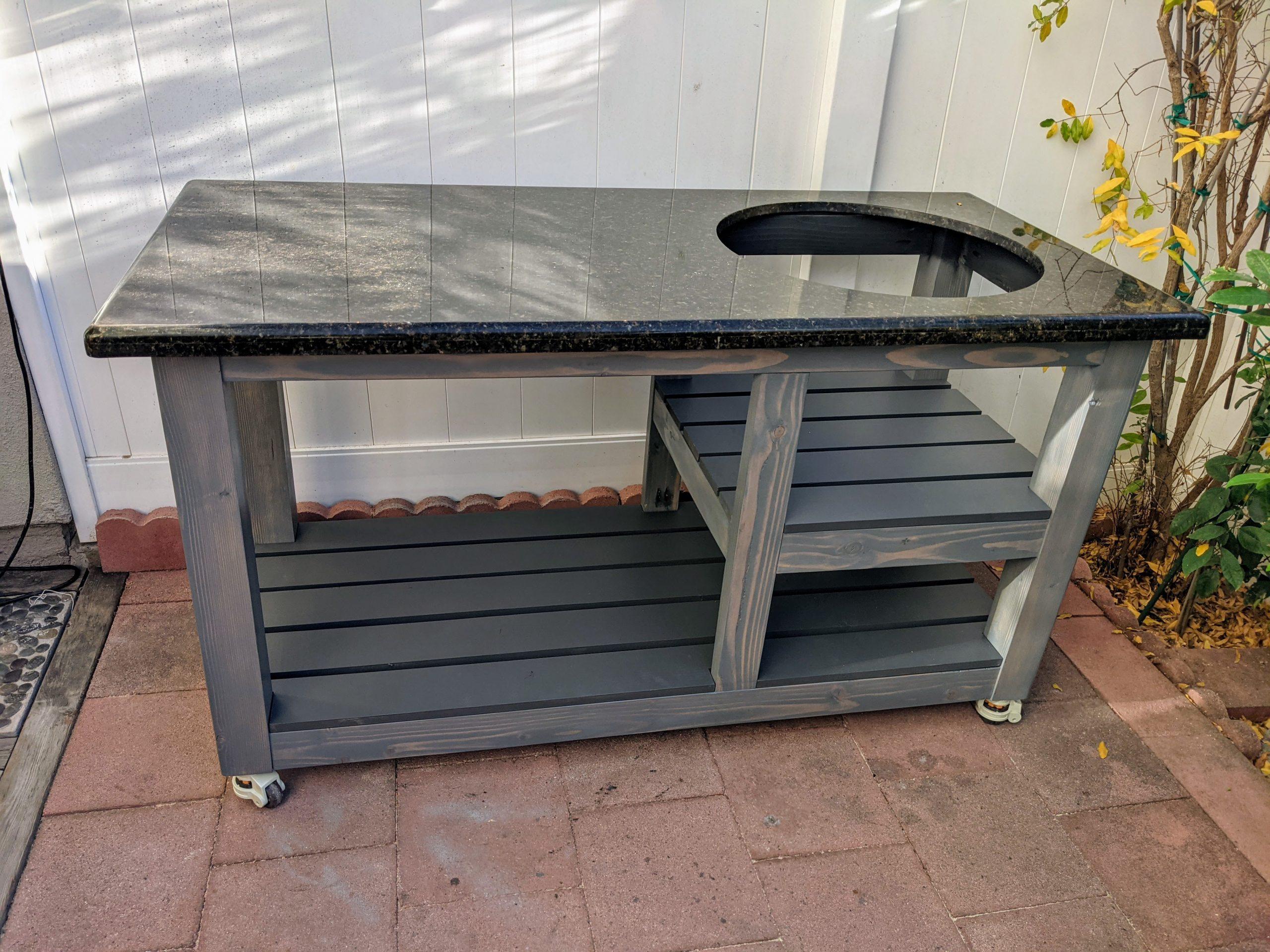 Granite BBQ Table